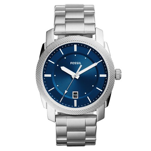 Fossil Machine Men's Stainless Steel Blue Bracelet Watch - Product number 8139555