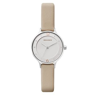 Skagen Anita Ladies' Stainless Steel Stone Set Strap Watch - Product number 8139733