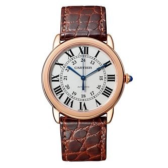 Cartier Ronde Solo Mens' Rose Gold Strap Watch - Product number 8139784
