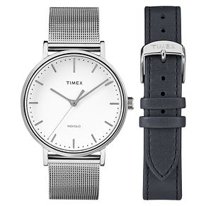 Timex Ladies' Fairfield Silver Bracelet Watch & Strap Set - Product number 8139962