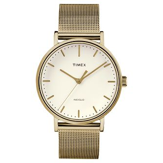 Timex Ladies' Fairfield Gold Mesh Bracelet Watch - Product number 8139989
