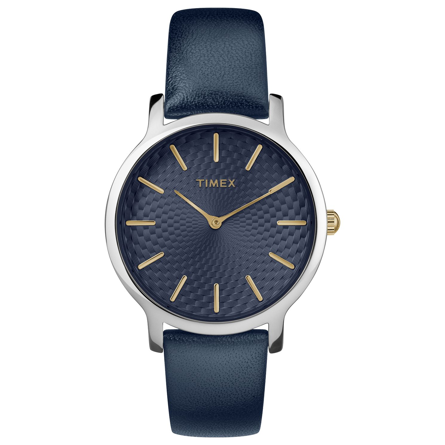 Timex Ladies' Blue Leather Strap Watch - Product number 8140022