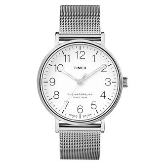 Timex Men's Waterbury Classic Silver Mesh Bracelet Watch - Product number 8140359