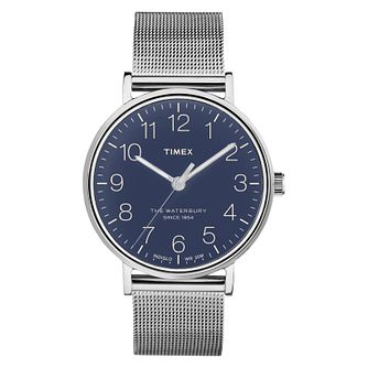 Timex Men's Waterbury Classic Silver Mesh Bracelet Watch - Product number 8140367