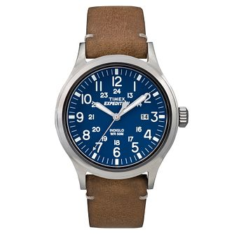 Timex Men's Expedition Scout Tan Leather Strap Watch - Product number 8140596