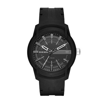 Diesel Armbar Men's Black Silicone Strap Watch - Product number 8144966
