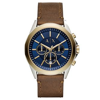Armani Exchange Men's Brown Leather Strap Watch - Product number 8145172