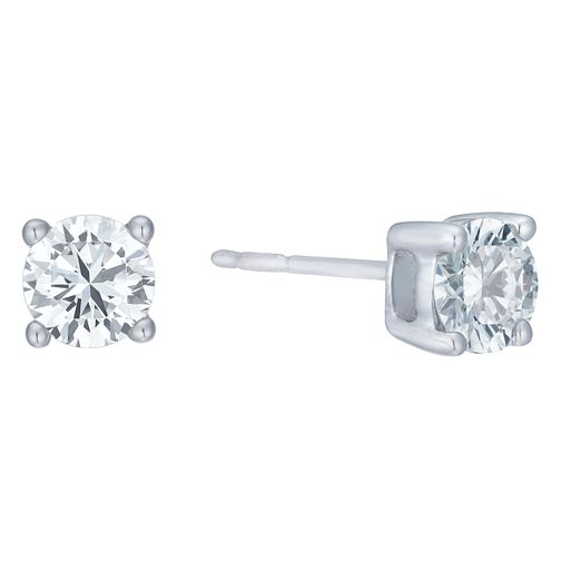 18ct White Gold 1ct G/H SI1 Diamond Stud Earrings - Product number 8147132