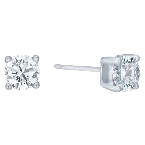 18ct White Gold 1ct F/G VS2 Diamond Stud Earrings - Product number 8147140