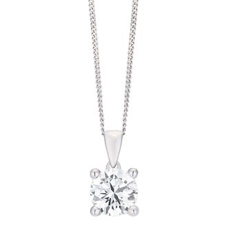 18ct White Gold 1ct H/I I1 Diamond Pendant - Product number 8147205