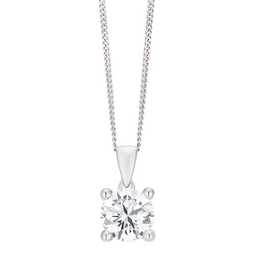 18ct White Gold 1ct G/H SI1 Diamond Pendant - Product number 8147221