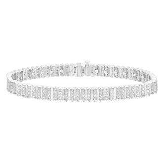 9ct White Gold 1.5ct Diamond Bracelet - Product number 8147280