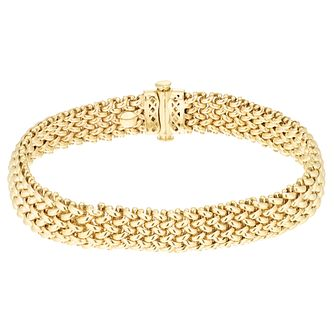 "9ct Yellow Gold Woven 7.5"" Bracelet - Product number 8147787"