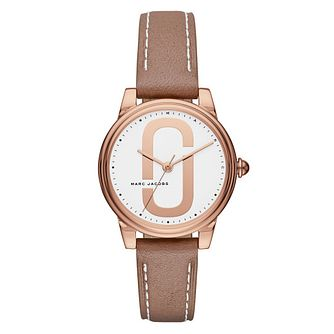Marc Jacobs Corie Ladies' Rose Gold Tone Strap Watch - Product number 8147833