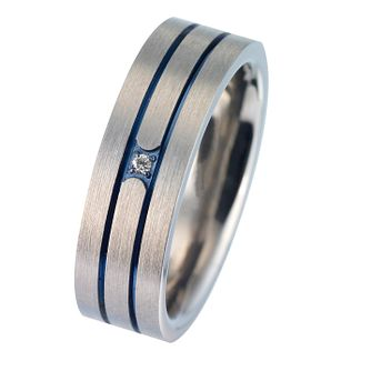 Men's Titanium Diamond Ring - Product number 8149976