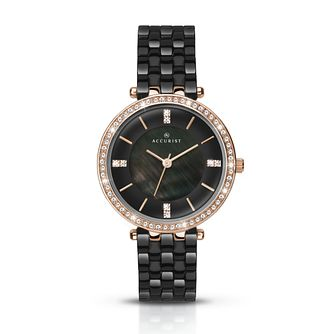 Accurist Ladies' Ceramic Crystal Watch - Product number 8151040