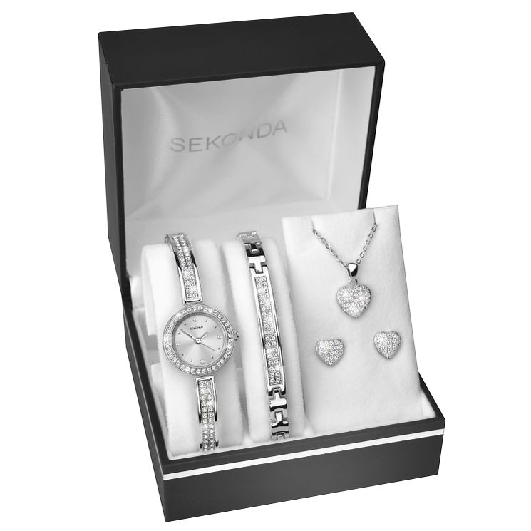 Sekonda La s Silver Watch & Jewellery Set