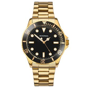 Sekonda Men's Gold Plated Stainless Steel Bracelet Watch - Product number 8151237