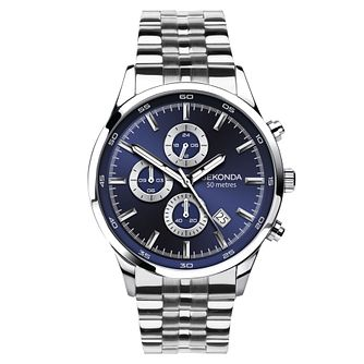 Sekonda Men's Dual Time Stainless Steel Bracelet Watch - Product number 8151296