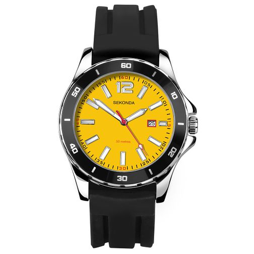 Sekonda Men's Black Silicone Strap Watch - Product number 8151326