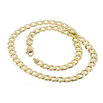 "9ct Yellow Gold 20"" Close Curb Necklace - Product number 8151393"