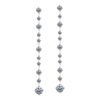 CARAT* LONDON Sterling Silver Stone Set Drop Earrings - Product number 8151474