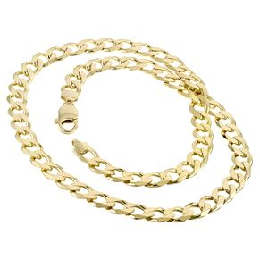 9ct Yellow Gold 8 Inch Curb Chain Bracelet - Product number 2843323
