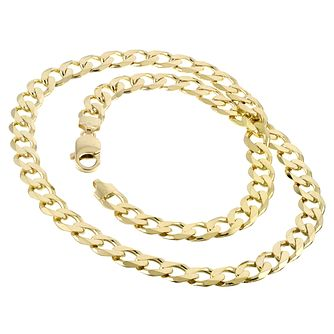 9ct Yellow Gold 20 Inch Curb Chain - Product number 8151504