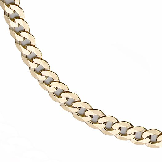 9ct Gold 20 inches Flat Curb Chain - Product number 8151563