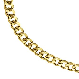 9ct Yellow Gold Curb Chain 20 incheses - Product number 8151695