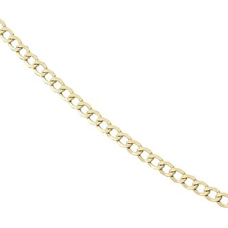 9ct Gold Curb Chain 20 inches - Product number 8151741