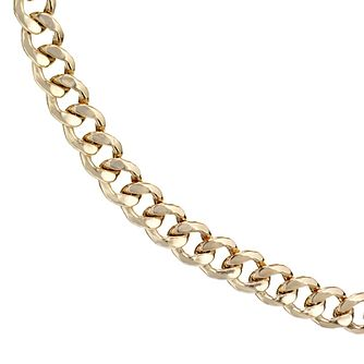9ct Yellow Gold Curb Chain 22 inches - Product number 8151792