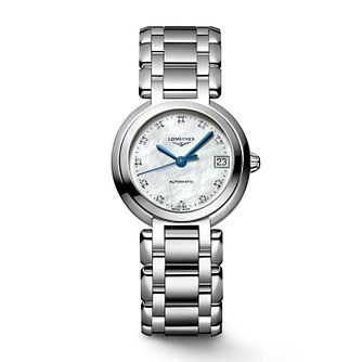 Longines Primaluna Ladies' Diamond Set Steel Bracelet Watch - Product number 8152438