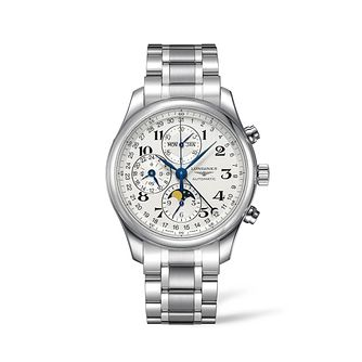 Longines Master Collection Moonphase Steel Bracelet Watch - Product number 8152683