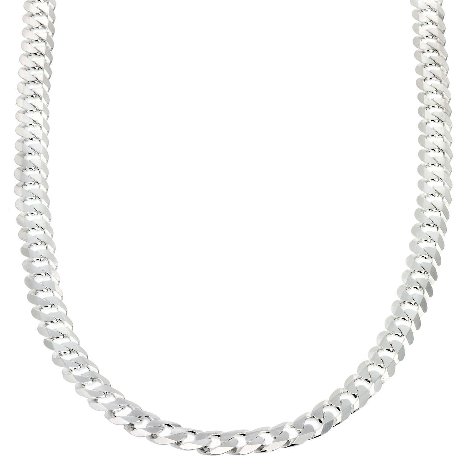 Sterling Silver Flat Curb Chain 20
