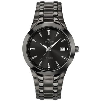 Accurist Men's Gun Metal Plated Stainless Steel Watch - Product number 8158479