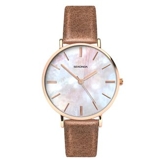 Sekonda Editions Ladies' Brown Strap Watch - Product number 8158754