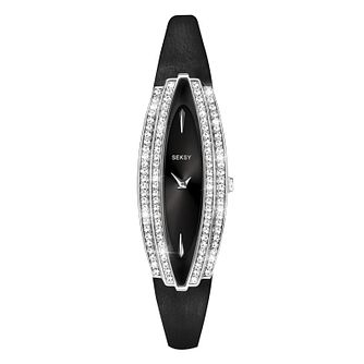 Seksy Ladies' Black Leather Strap Watch - Product number 8158789