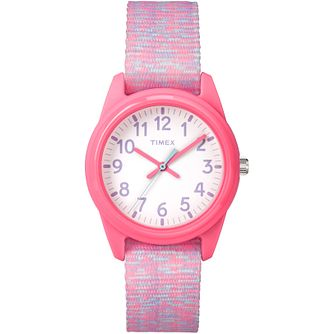 Timex Kids Time Machines Pink Nylon Strap Watch - Product number 8163553