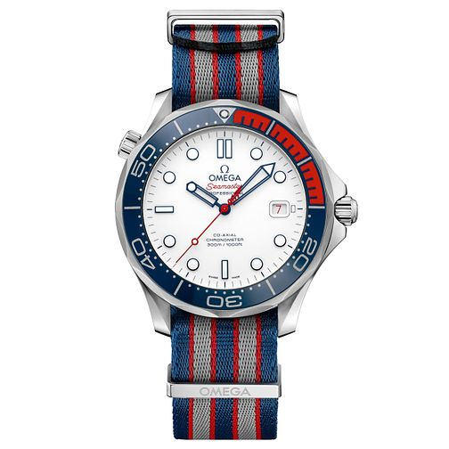 Omega Seamaster Commander Men's Fabric Strap Watch - Product number 8165483