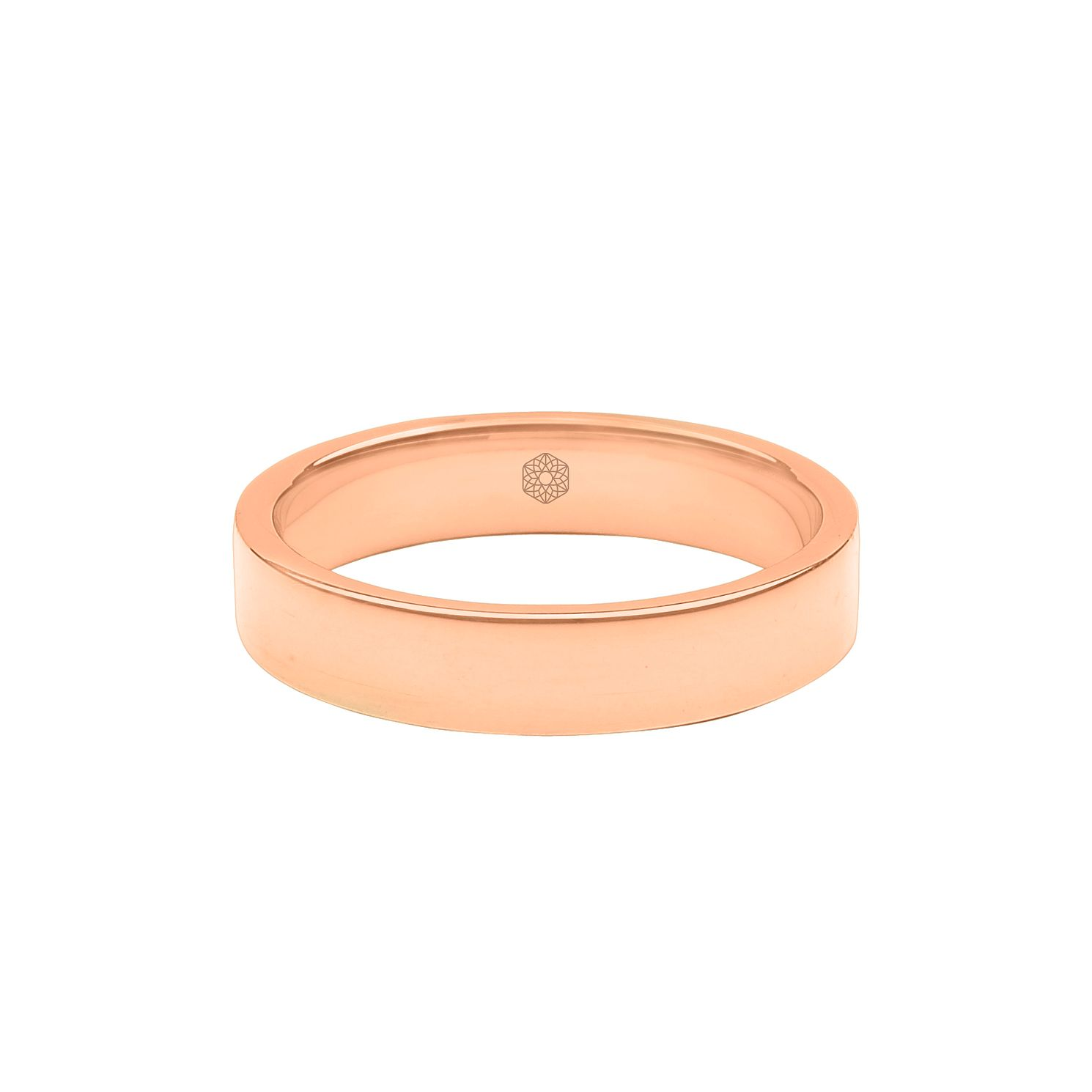 Baird Mint 18ct Rose Gold Blush 4mm Flat Ring - Product number 8168393