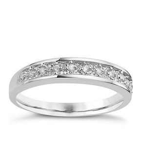 9ct White Gold Pave Set Diamond Eternity Ring - Product number 8169063