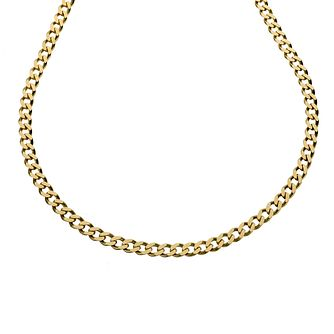 9ct Yellow Gold 20 Inch Curb Chain - Product number 8181276