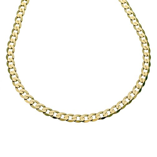 9ct gold solid curb chain - Product number 8181284