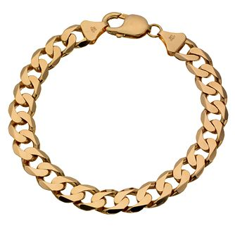 "Men's 9ct Yellow Gold 8.5"" Curb Bracelet - Product number 8181314"