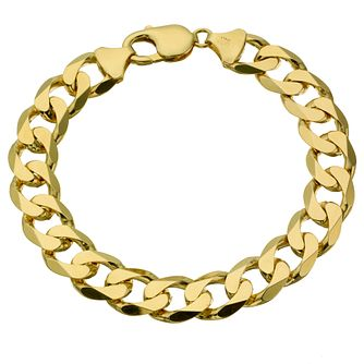 "Men's 9ct Yellow Gold 8.5"" Curb Bracelet - Product number 8181330"