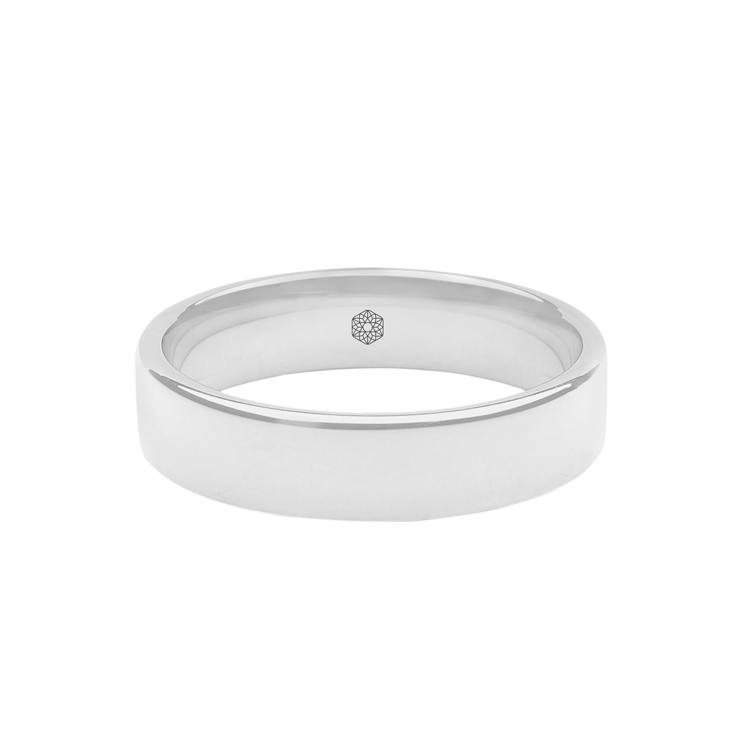 Baird Mint 18ct White Gold Arctic 5mm Flat Ring - Product number 8181705