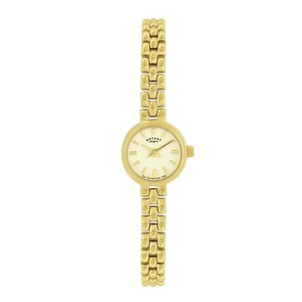 Rotary Ladies' Cocktail Gold-Plated Bracelet Watch - Product number 8186359