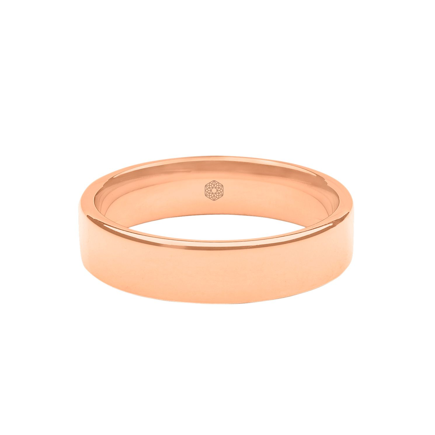 Baird Mint 18ct Rose Gold Blush 5mm Flat Ring - Product number 8186766