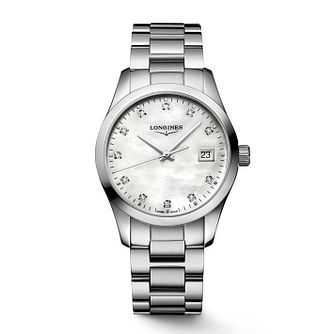 Longines Conquest Classic Stainless Steel Bracelet Watch - Product number 8189498